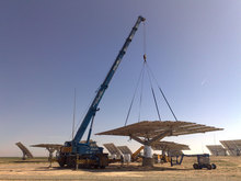 Installation of solar trackers